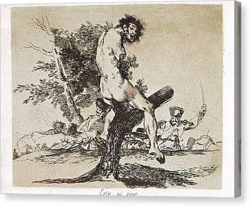 Goya Y Lucientes, Francisco De Canvas Print