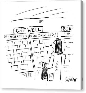 New Yorker May 18th, 2009 Canvas Print by David Sipress