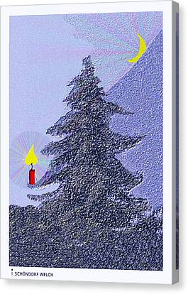 792 -  Lonely Candle  Canvas Print by Irmgard Schoendorf Welch