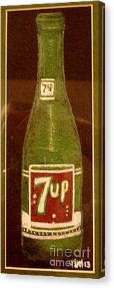 Canvas Print featuring the pastel 7up Bottle by Joseph Hawkins
