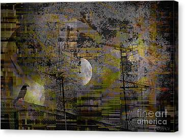Canvas Print featuring the digital art What Is Real Is Not The Exterior But The Idea, The Essence Of Things.  by Danica Radman