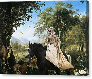 Whippet  Art Canvas Print  Canvas Print