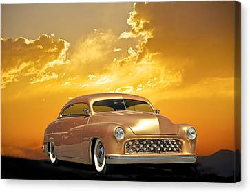 1950 Mercury Custom Canvas Print by Dave Koontz