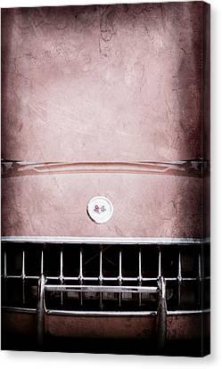 1957 Chevrolet Corvette Grille Canvas Print by Jill Reger