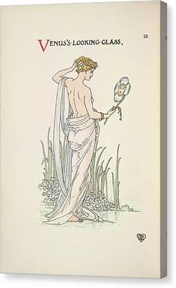 Goddess Venus Canvas Print - A Flower Wedding by British Library
