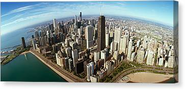 View. Chicago Canvas Print - Aerial View Of A City, Chicago, Cook by Panoramic Images