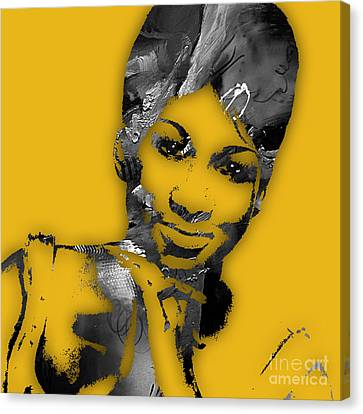 Aretha Franklin Collection Canvas Print