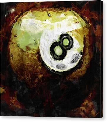 8 Ball Abstract Canvas Print by David G Paul