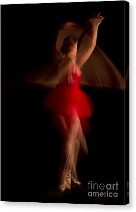 Ballet Dancer In Red Tutu Canvas Print