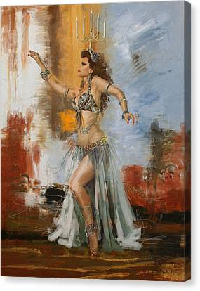 Abstract Belly Dancer 20 Canvas Print by Corporate Art Task Force