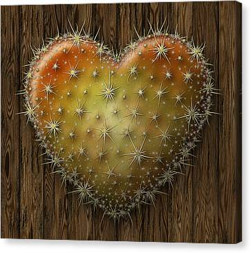 Cactus Heart Canvas Print by James Larkin