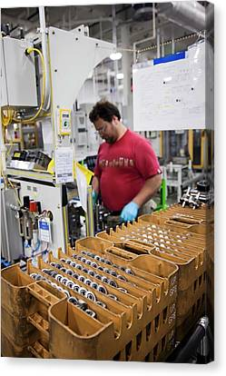 Component Canvas Print - Car Transmission Assembly Line by Jim West