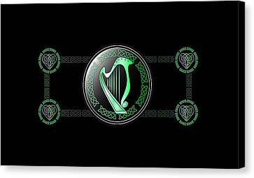 Celtic Harp Canvas Print by Ireland Calling