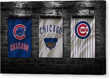 Mlb Canvas Print - Chicago Cubs by Joe Hamilton