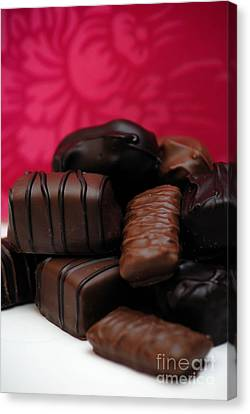 Chocolate Candies Canvas Print by Amy Cicconi