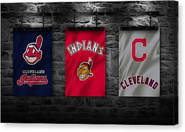 Mlb Canvas Print - Cleveland Indians by Joe Hamilton