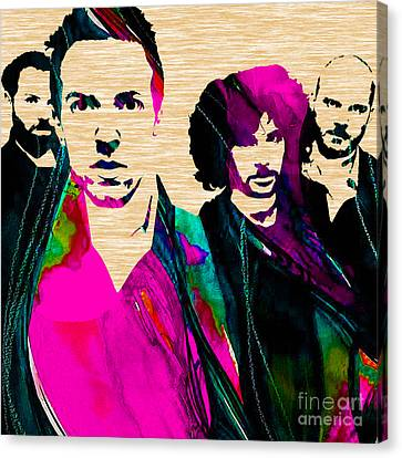 Coldplay Canvas Print - Coldplay Collection by Marvin Blaine