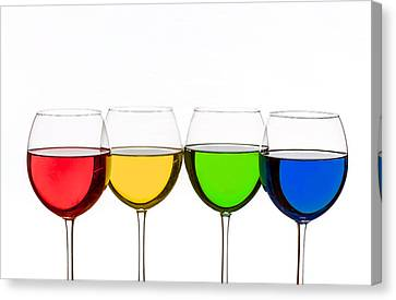 Colorful Wine Glasses Canvas Print