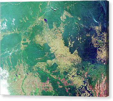Clearing Canvas Print - Deforestation In The Amazon by Nasa Earth Observatory