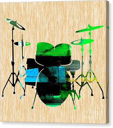 Drums Canvas Print by Marvin Blaine