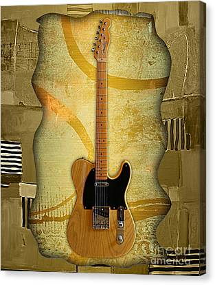 Fender Canvas Print - Fender Telecaster Collection by Marvin Blaine
