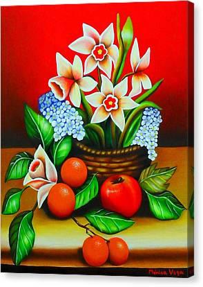 Garden Delights Canvas Print by Monica  Vega