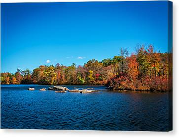 Green Pond Morris County New Jersey Painted Canvas Print by Rich Franco