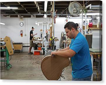 Guitar Factory Canvas Print by Jim West