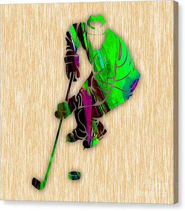 Hockey Canvas Print by Marvin Blaine