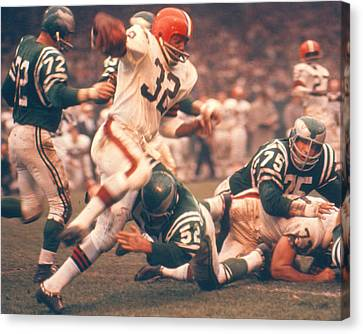 Jim Brown By Art Rickerby Canvas Print