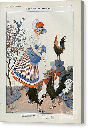 La Vie Parisienne  1916 1910s France Cc Canvas Print by The Advertising Archives