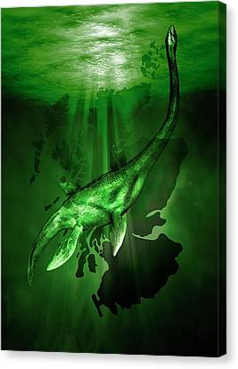 Loch Ness Monster Canvas Print by Victor Habbick Visions
