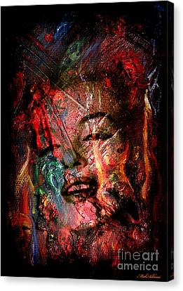 Famous People Canvas Print - Marilyn Monroe by Mark Ashkenazi