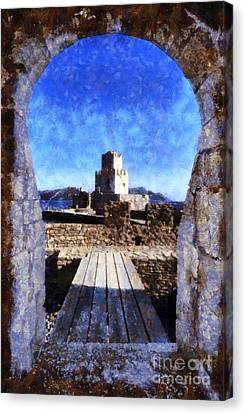 Methoni Castle Canvas Print by George Atsametakis