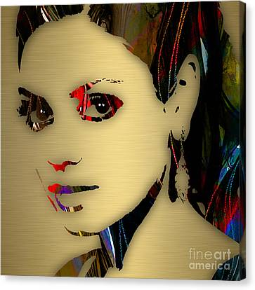Mila Kunis Collection Canvas Print by Marvin Blaine