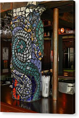 Mosaic Pillar Canvas Print by Charles Lucas
