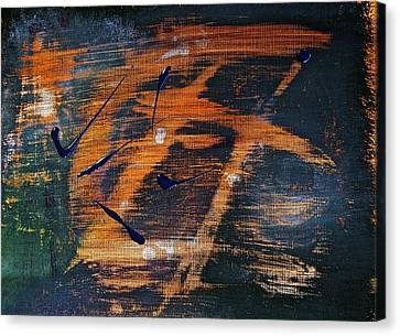 Canvas Print featuring the painting Nameless by Tracey Myers