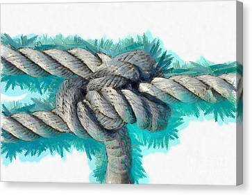 Ropes Canvas Print - Nautical Knots by George Atsametakis