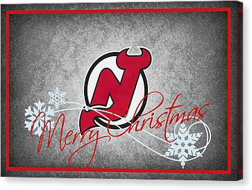 New Jersey Devils Canvas Print by Joe Hamilton