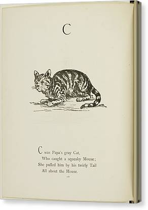 Edition Canvas Print - Nonsense Alphabets By Edward Lear by British Library