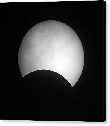 Partial Solar Eclipse Canvas Print by Detlev Van Ravenswaay