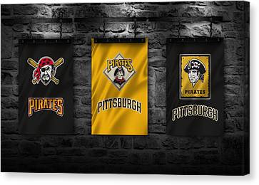 Mlb Canvas Print - Pittsburgh Pirates by Joe Hamilton