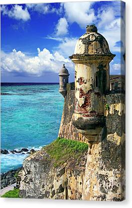 Puerto Rico, San Juan, Fort San Felipe Canvas Print by Miva Stock