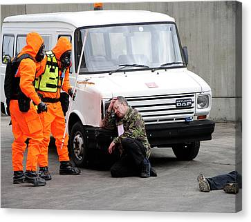 Radiation Emergency Response Training Canvas Print by Public Health England
