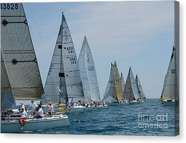 Sailboat Race Canvas Print by Randy J Heath