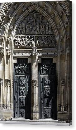 Medieval Entrance Canvas Print - Saint Vitus Cathedral. by Fernando Barozza
