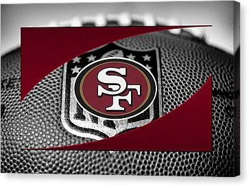 Football Canvas Print - San Francisco 49ers by Joe Hamilton
