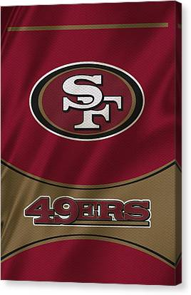 San Francisco 49ers Uniform Canvas Print by Joe Hamilton