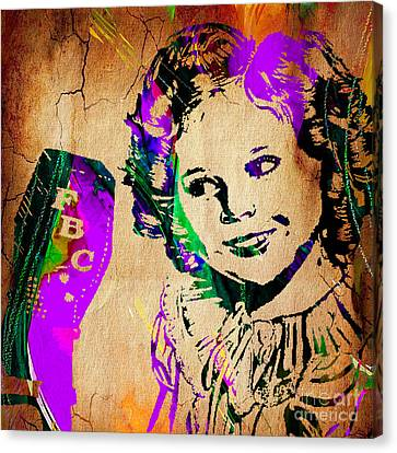 Shirley Temple Collection Canvas Print by Marvin Blaine