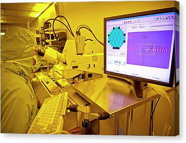 Silicon Wafer Research Canvas Print by Chris Knapton
